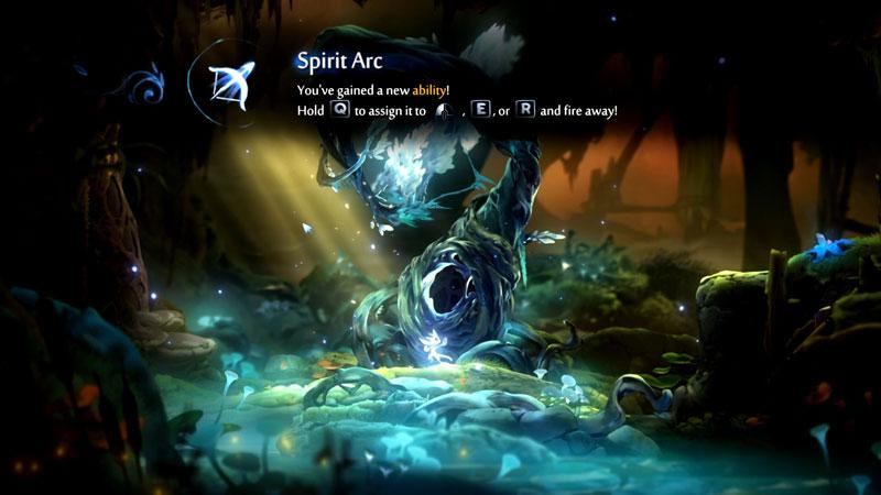 Acquiring the Spirit Arc ability.