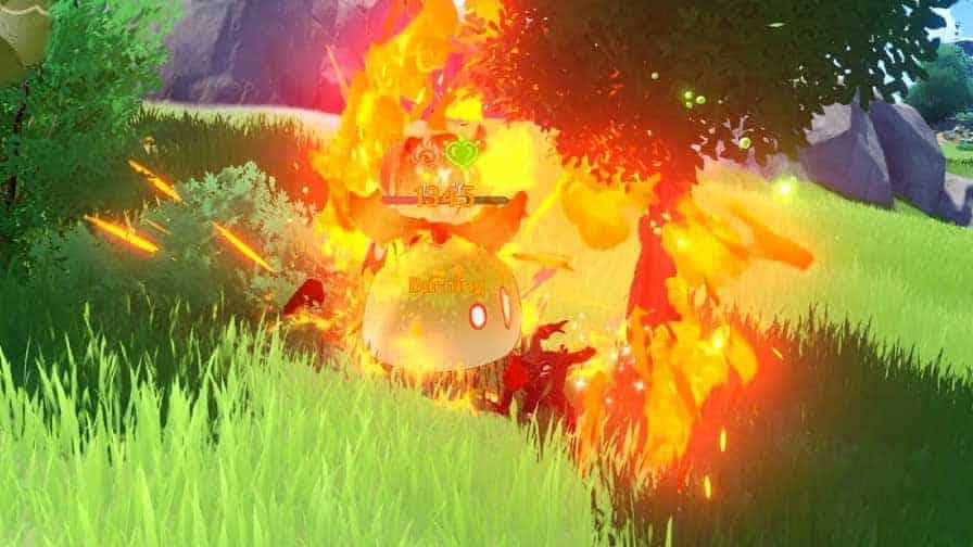 Burning Elemental Reaction
