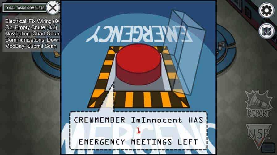 Calling Emergency Meeting In Among Us